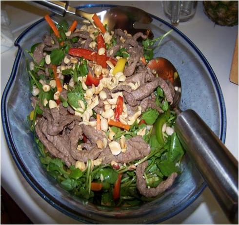 Stir Fried Beef Salad with Mango Recipe
