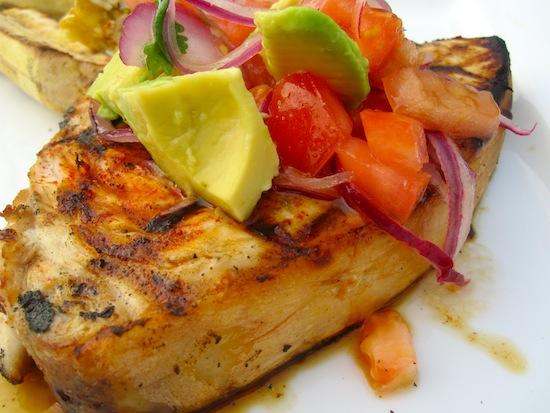 Swordfish with Salsa Dressing Recipe
