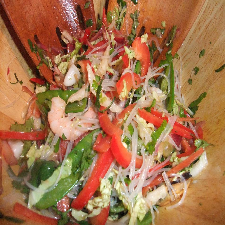 Thai Prawn Rice Noodle Salad Recipe