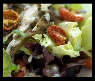 flame grilled chicken and vegetable salad