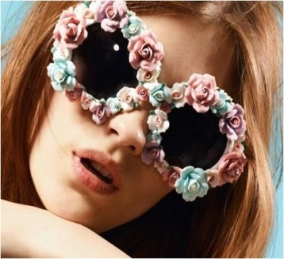 make flower-embellished sunglasses