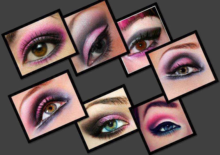 pink smokey eyes makeup