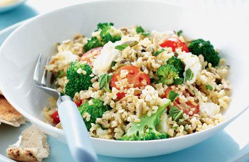 Bulgur Wheat and Fish Salad in Lemon Dressing Recipe