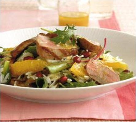 Duck Salad with Mushrooms and Oranges Recipe
