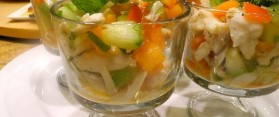 Grapefruit Salad Shells Recipe