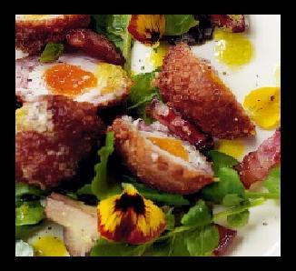 Mushrooms and Quail's Eggs Salad Recipe