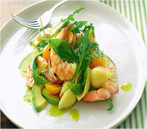 Prawn and Avocado Pasta Salad Recipe