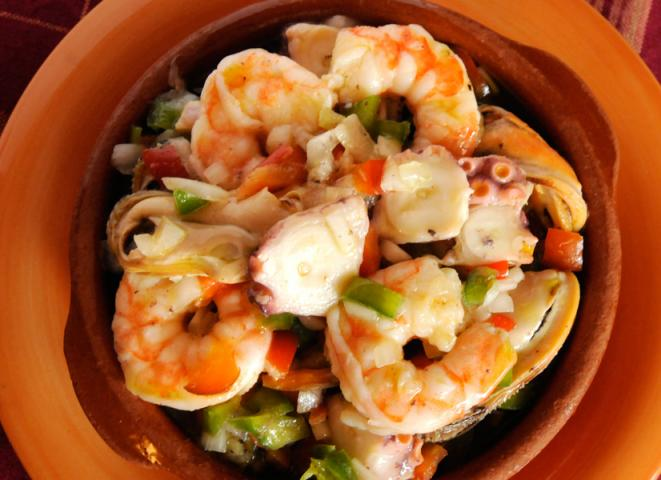 Seafood Tapas Salad Recipe