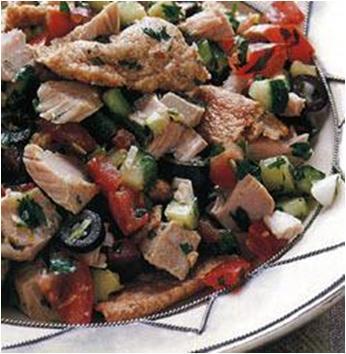 Tunisian Fattoush with Tuna Recipe