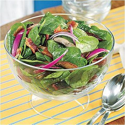 Warm Spinach, Mushroom and Turkey Salad Recipe