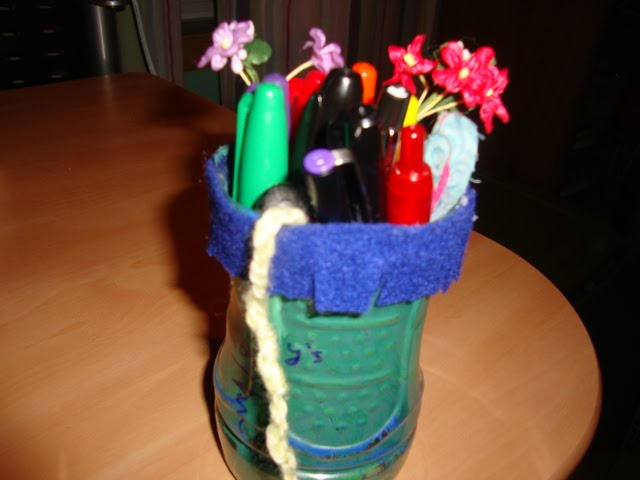 How to Make a Pencil Holder from a Water Bottle