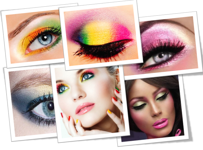 colorful eye makeup for spring