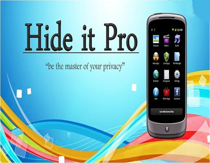 Hide Media Files on Android with hide it Pro