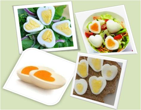 heart shaped eggs