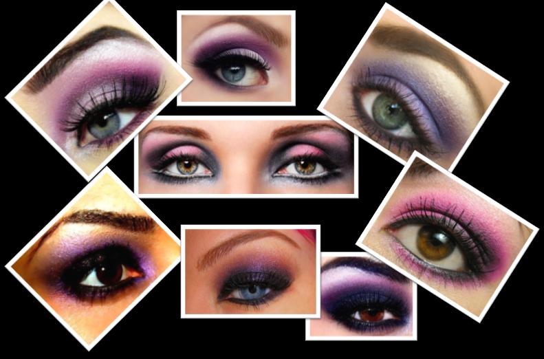 purple smokey eyes makeup