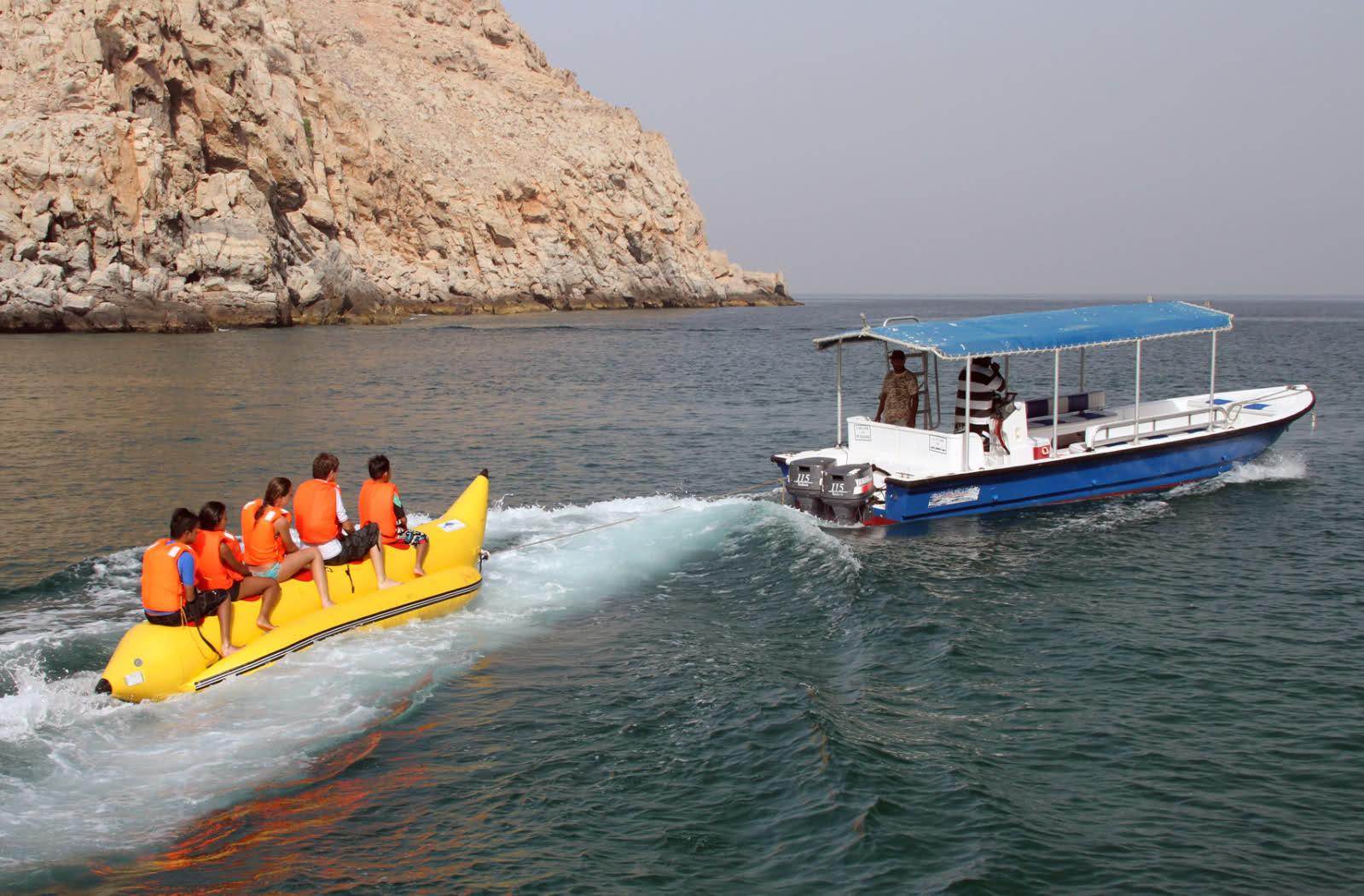 Banana Boating Adventures in Dubai