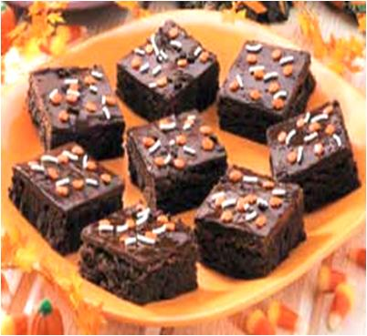 chocolate glazed brownie recipe for halloween