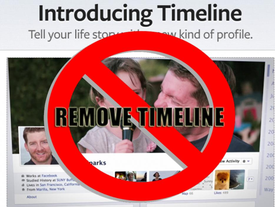 Disable Facebook Timeline View