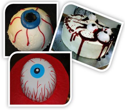 Halloween Eye Ball Cake