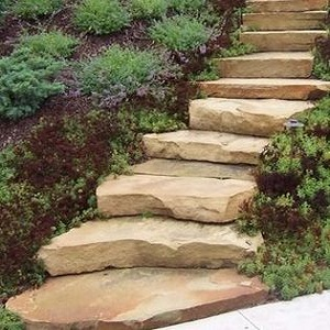 How to make steps in a garden walk for Steps to building a house from the ground up