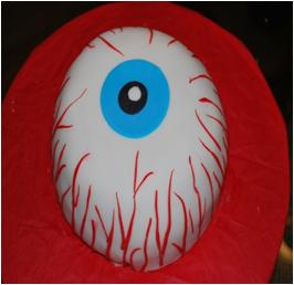 Eyeball Cake Decoration for Halloween