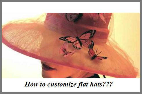 how to customize flat hat