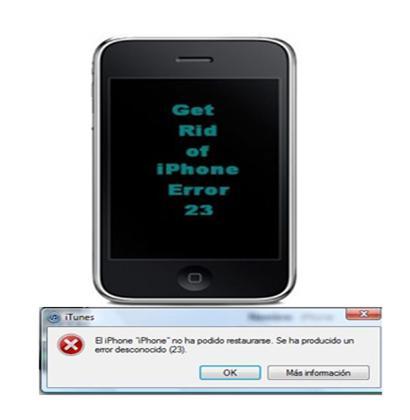 iPhone Error 23