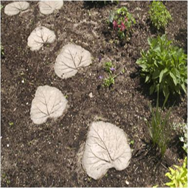 make Leaf Shaped Stepping Stones