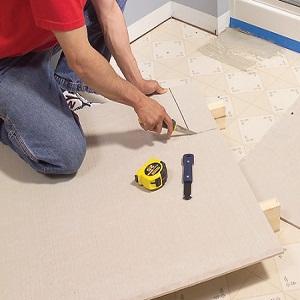 Backer board for floor tile
