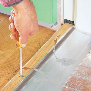 how to replace a door threshold