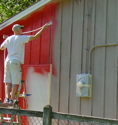 How to paint exterior siding for How to get paint off siding