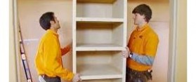 How to install solid closet shelves