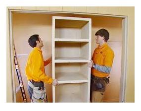 How to install solid closet shelves