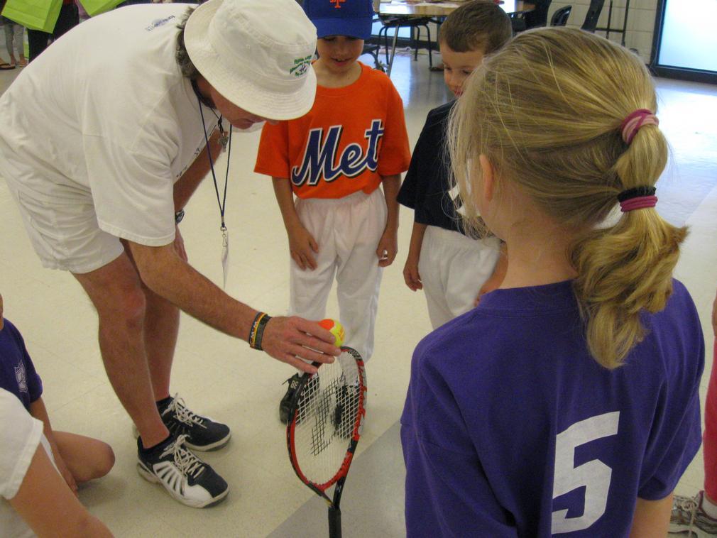 How to teach tennis skills to children
