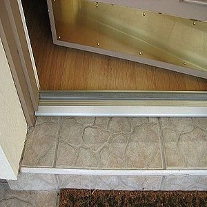 How to replace a door threshold for How to install a threshold for an exterior door
