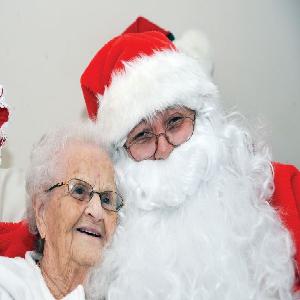 Senior Citizen Enjoy Christmas