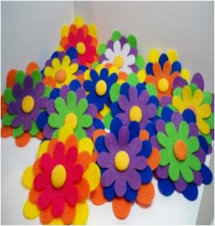Layered Felt Flowers