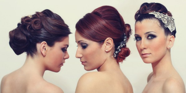 Women with various hairstyles