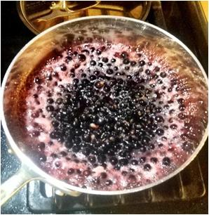 Boil blackcurrants
