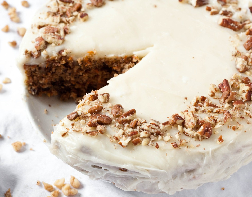 carrot cake with cream cheese icing is one of
