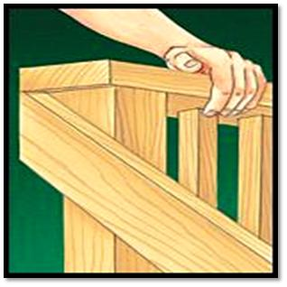 "stairway deck stair rail railing ballusters posts white wood square36"""