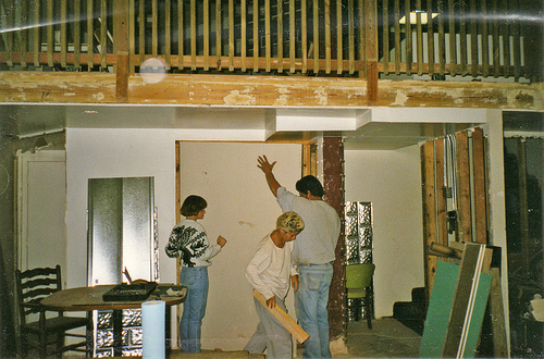 Dedee,-Milena,-and-Tommy-Installing-Drywall