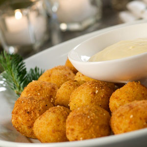 Deep Fried Mozzarella Ball Salad