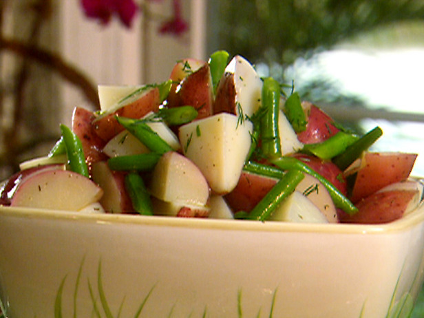 Green Bean Potato and Ham Salad