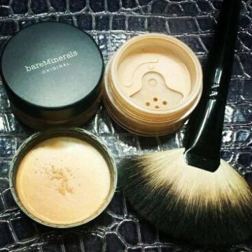 Bare Escentuals is the company name. Bare minerals is the actual mineral makeup that the company sells. Get it? I know, because I used to be a national trainer for Bare Escentuals stores. Bare minerals is the actual mineral makeup that the company sells.