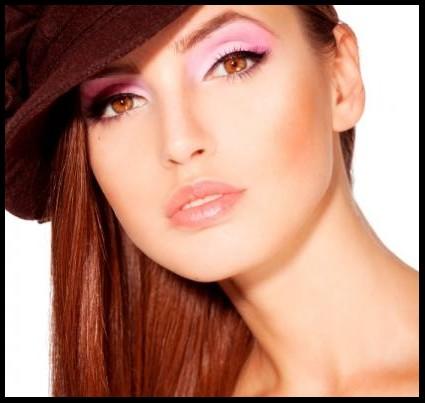 Hazel eyed model