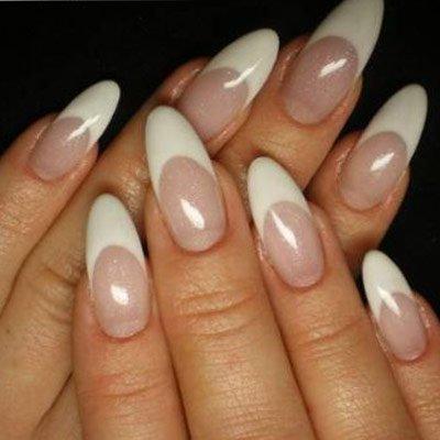 Split free round/pointy nails
