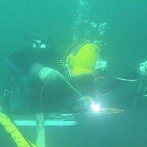 Underwater Welder Welding
