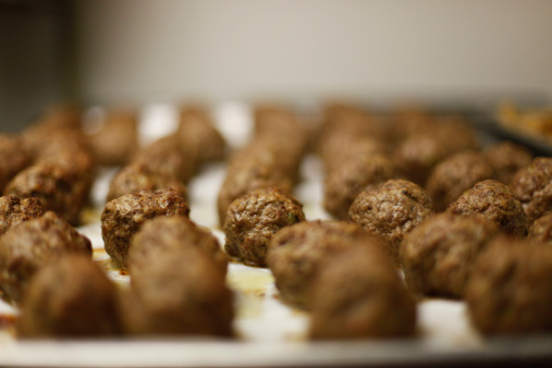 Delicious meatballs in plate