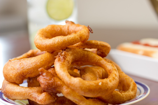Crispy Onion Rings served
